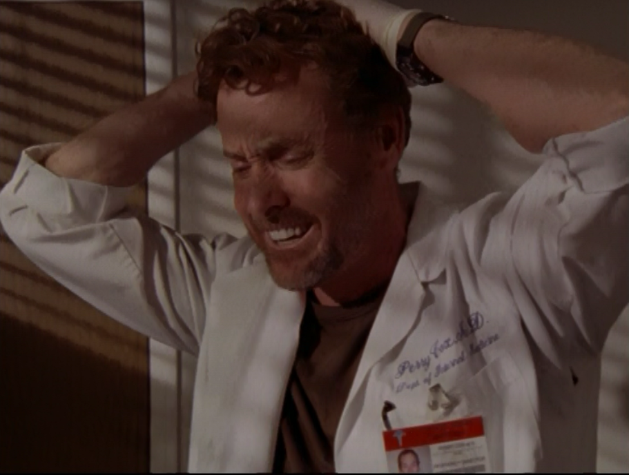 In  Scrubs , when Dr. Cox realized that he caused the death of two patients. -  He misdiagnosed one patient and she passed away and because of the misdiagnosis, he deemed her organs fit for transplant into another patient who needed one.