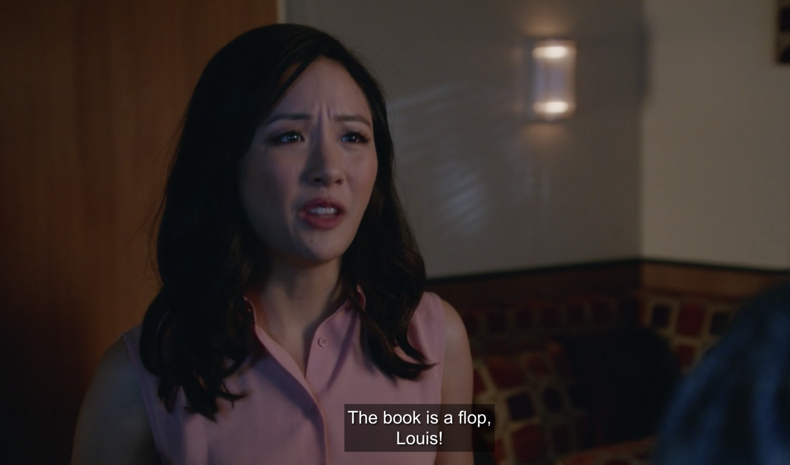 In  Fresh Off The Boat , when Jessica finally tells Louis that no one bought her book.
