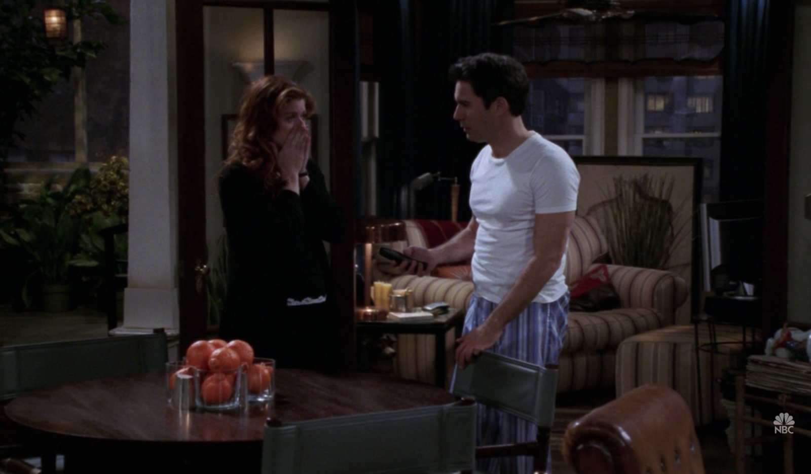In  Will & Grace , when Will's dad died before Will could reconcile with him after they had a big fight.
