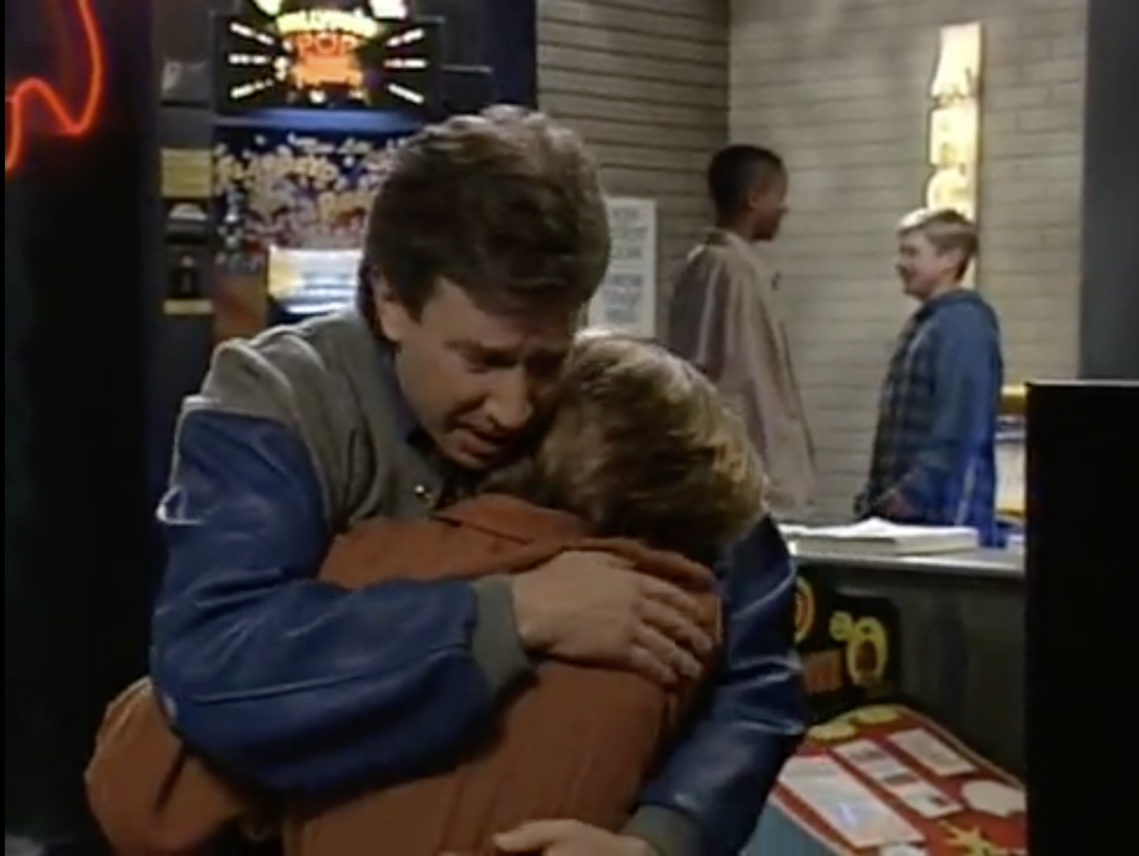 In  Home Improvement , when Randy broke down in Tim's arms because he thought he might have cancer. -  As a parent, I can't even imagine what that worry would be like!