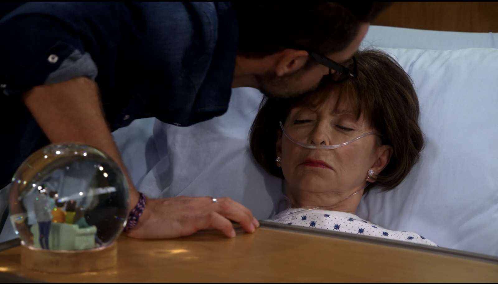 On the season two finale of  One Day at a Time , when Schneider tells Lydia how much their friendship means to him. -  Makes me sob every time.