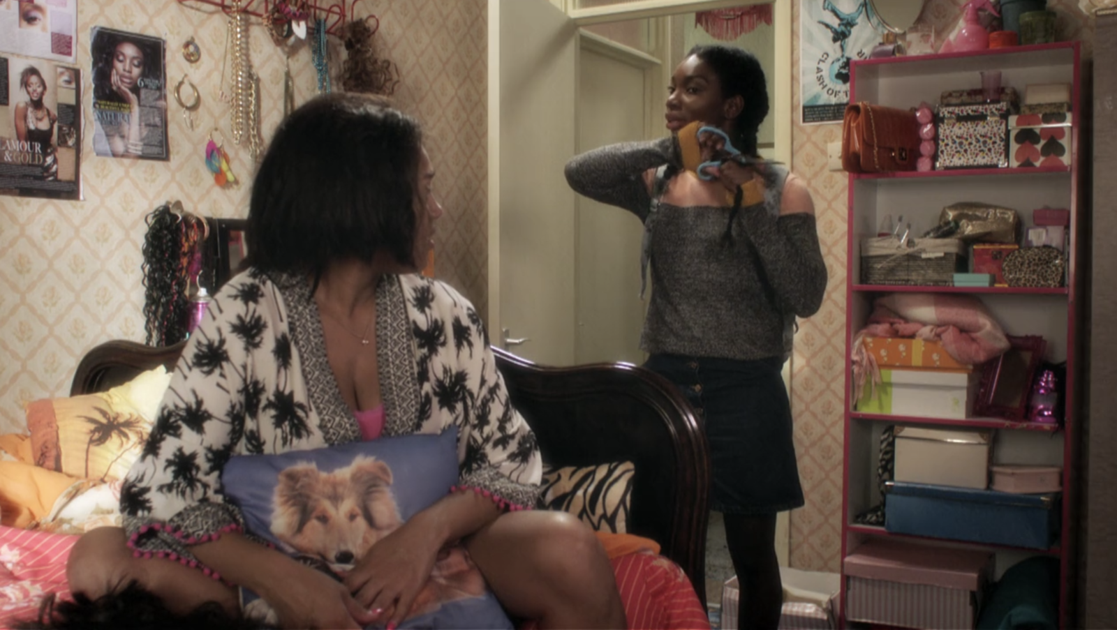 In  Chewing Gum , when Tracy cuts her hair in solidarity for Candice. -  There was just something so profound, yet simple, about Tracy cutting her hair to show Candice how her hair meant nothing in comparison to their community, love, and friendship on  Chewing Gum .