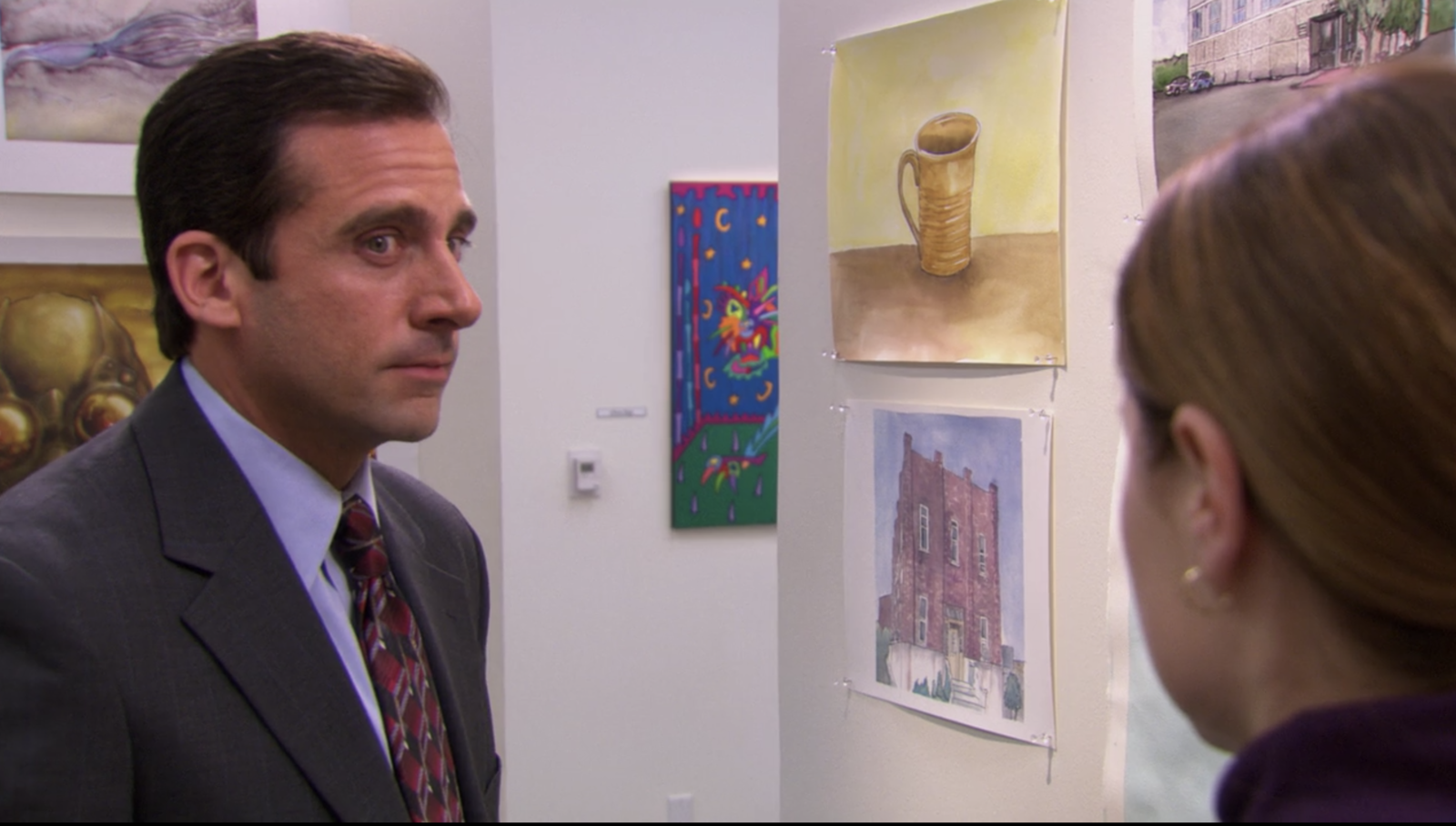 And finally, in  The Office , when Michael was the only one to show up to Pam's art show, and then bough her painting after he told her he was proud of her. -  — Nicholas Mixon via Facebook