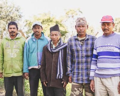 People living near Nepal's Chitwan National Park.
