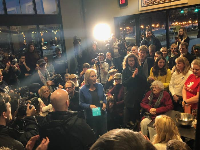 Gillibrand at Saturday night's event in Des Moines, Jan. 19, 2019.
