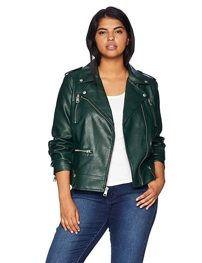 b34781feab834 A Levi's faux leather jacket to replace the cheap one you bought a few  seasons ago that's totally falling apart — and add one to your wardrobe that 'll last ...