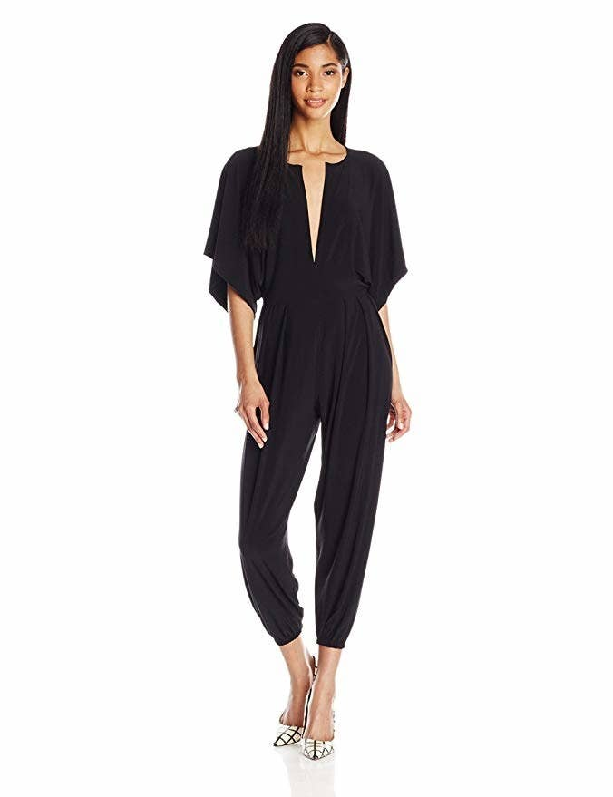 e7d41aa801 A V-neck jumpsuit you ll look fabulous in for your next fancy occasion...or  just when you have to run errands because you ll want any chance you get to  wear ...