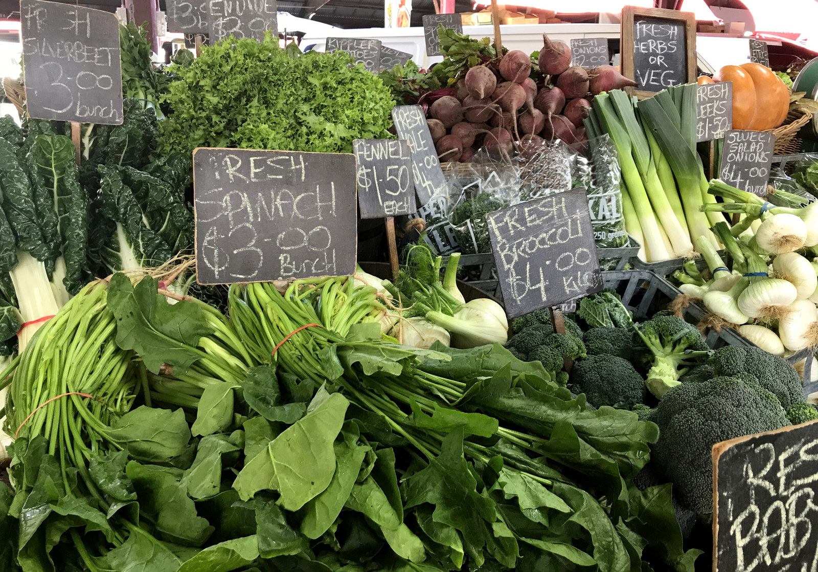 "Take advantage of local farmers markets. -  ""A big money saver for me is buying local produce from the farmers market. The fruits and vegetables are always very fresh and they seem to last the extra few days, too, since they aren't transported across states."" —  phor89"