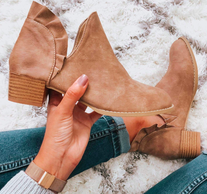 """Promising review: """"It took about a month and a half to actually get here (with delays). Other than that they fit true to size and are really great quality! I love them! I'm a size 9 and they actually make my feet look small."""" —Amanda JohnsonGet them from Amazon for $23.98+ (available in sizes 5-12 and in four colors)."""