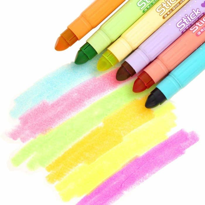 """Promising review: """"I bought these for my daughter who is dyslexic. She struggles with regular ink highlighters because they smear the writing on her papers and make her reading difficulties worse. These highlighters don't smudge at all. She loves them. I have purchased these highlighters more than once!"""" —cdwickliGet a six-pack from Amazon for $8.99."""