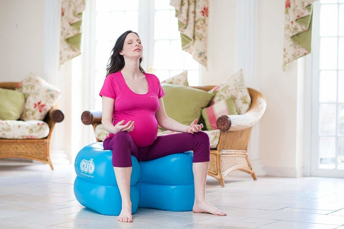 """Includes a manual inflation pump, terry cotton cover, drawstring carrier bag, and product info. Promising review: """"As both a mother and a certified birth doula, I'm a HUGE fan of this product. I never thought I could fall in this much love with plastic! I first saw it used at a birth and thought it was genius. I've been a raving fan ever since. Most women (especially in the US) don't realize how important moving around in labor can be. Not only can movement lessen discomfort, it can also shorten labor time! This is genius because it is one product that can be used so many ways. Especially for moms who might require more monitoring, it's wonderful to have an option that can still be positioned right next to medical equipment but allow mom to be upright. I'm a proud owner and plan to use this in future client births, as well as at the birth of my third child!"""" —Victoria WilsonPrice: $155"""