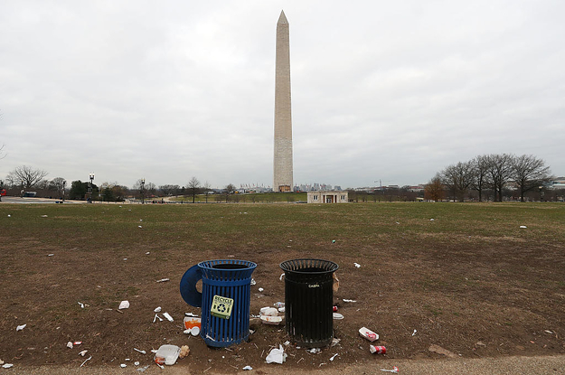 The Government Shutdown Has Left DC Covered In Trash