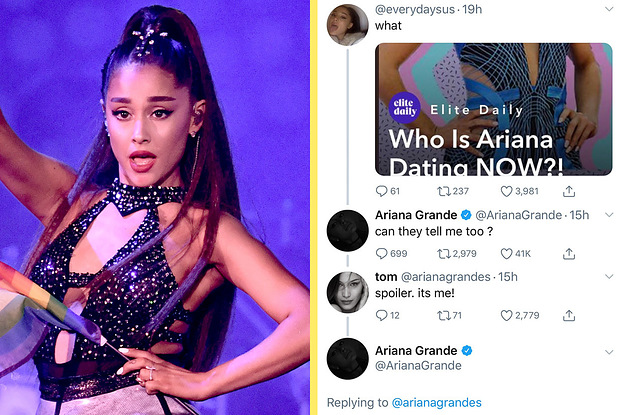 Ariana Grande Just Responded To Rumours About Who She's Dating Now