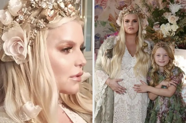 These Photos Of Jessica Simpson At Her Baby Shower Are So Stunning