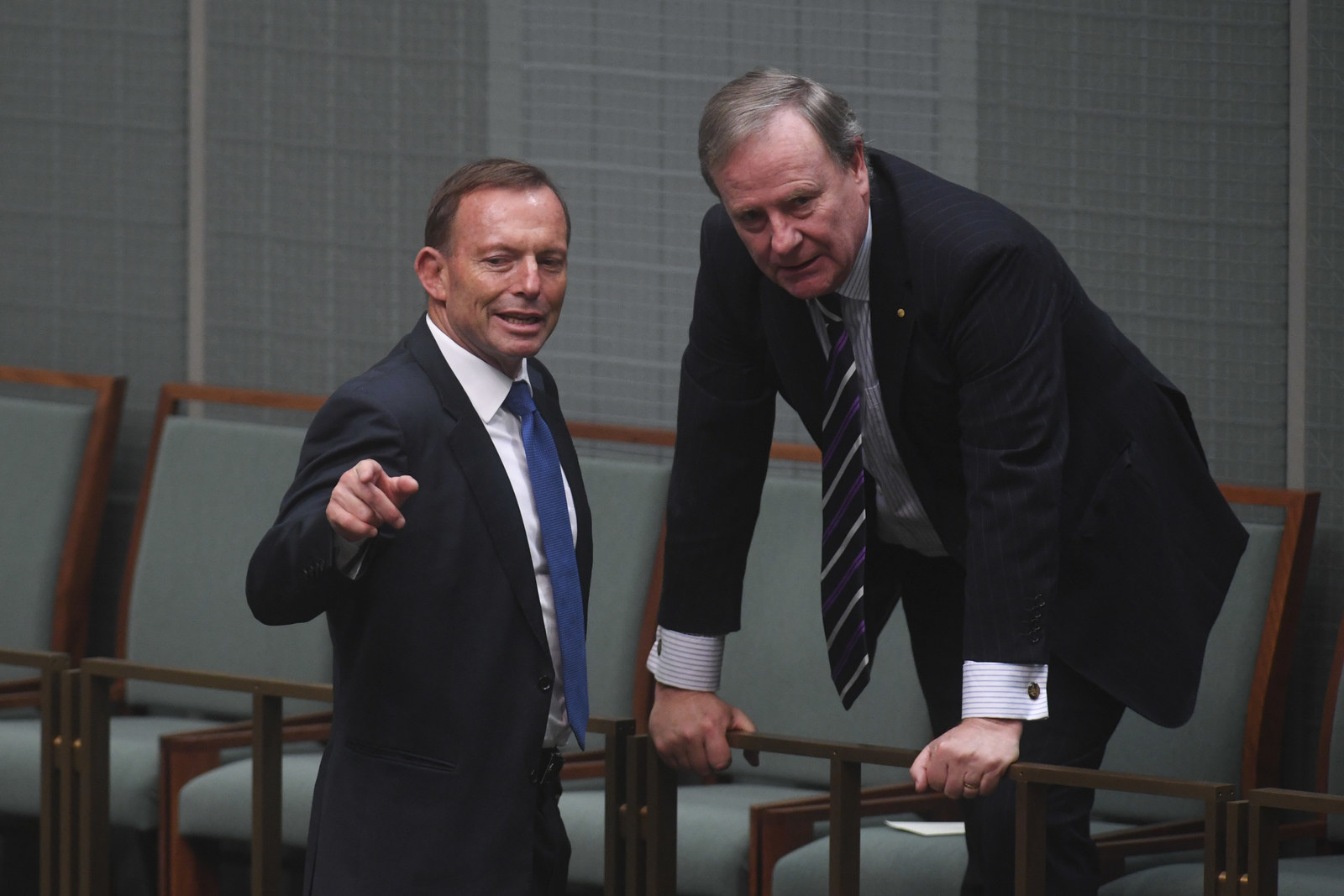Former prime minister Tony Abbott and Peter Costello.
