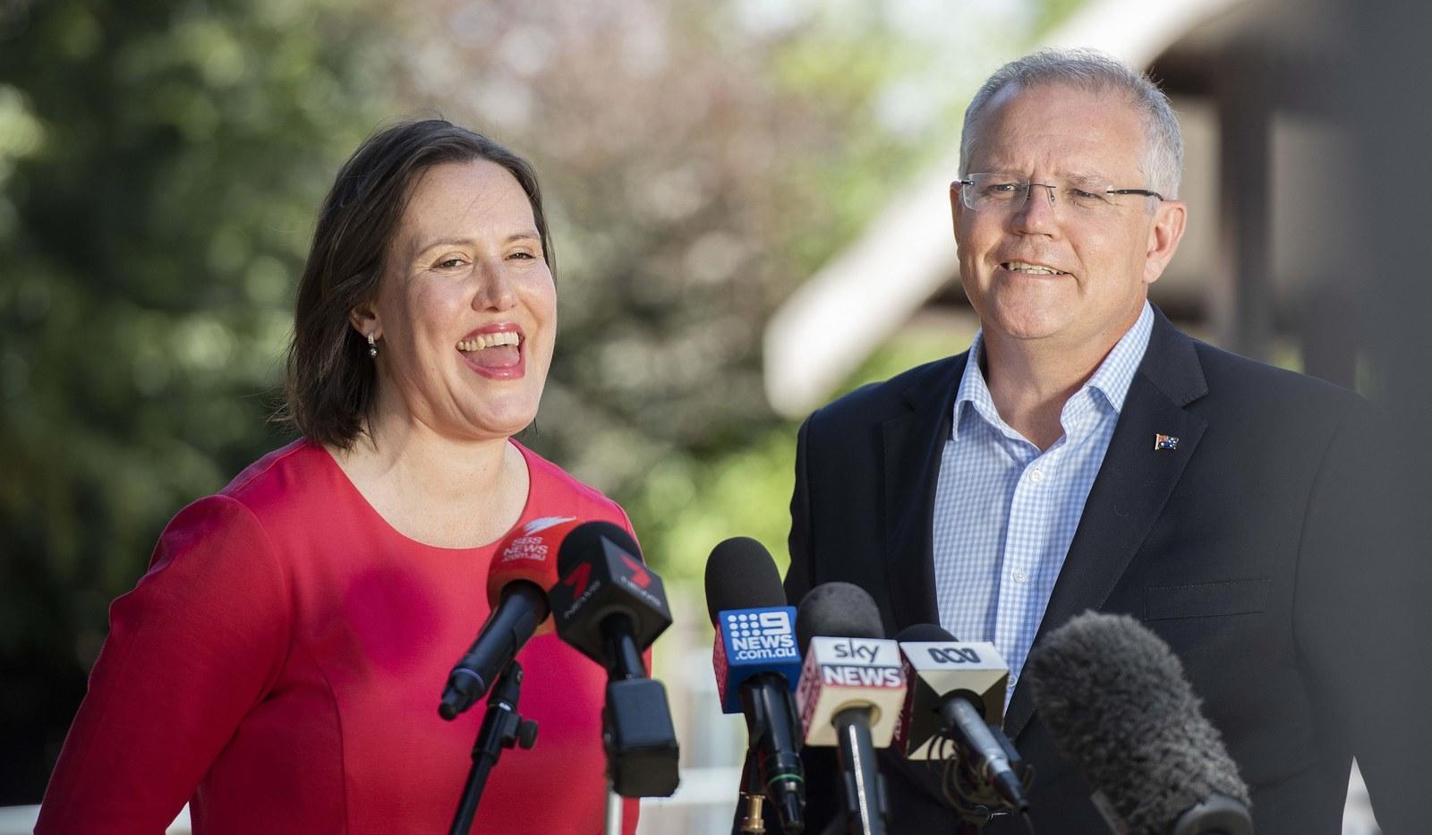 Kelly O'Dwyer and prime minister Scott Morrison.