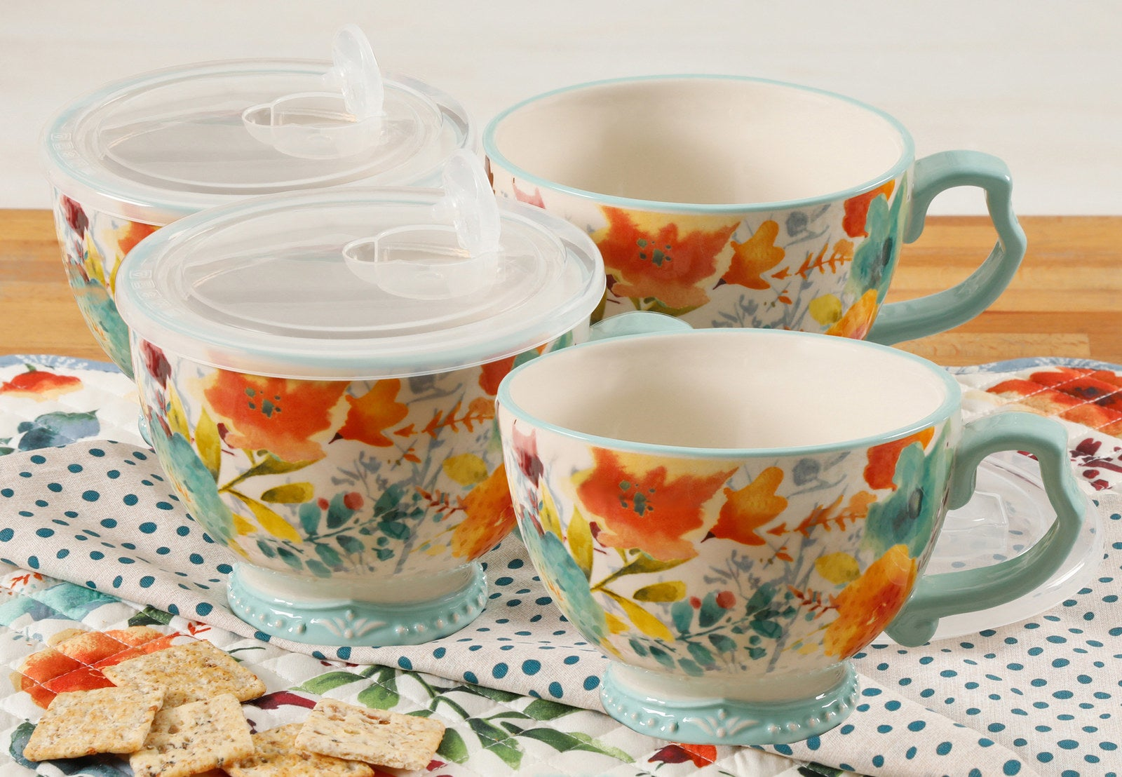 These are made of durable stoneware and are microwave- and dishwasher-safe!Get them from Walmart or Jet for $19.52.