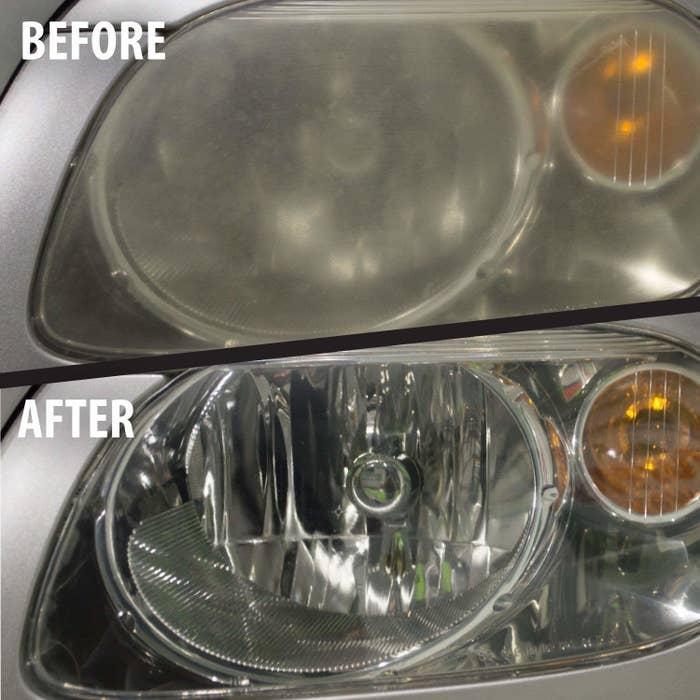 """Promising review: """"It is as amazing as it sounds. It doesn't take any power tools, just your strength, and you can turn your ugly headlights into as good as new (or at least a whole lot closer than you could imagine they could get). I feel like I just saved myself $400 because I would have had to take the car to the dealer and had them install new headlights. I would have had to pay for parts and labor, plus the inconvenience of taking my car in. I would highly recommend this product to anyone who wants to save a lot of money and use a great quality product."""" —PinkZ_Get it from Amazon for $17.99."""