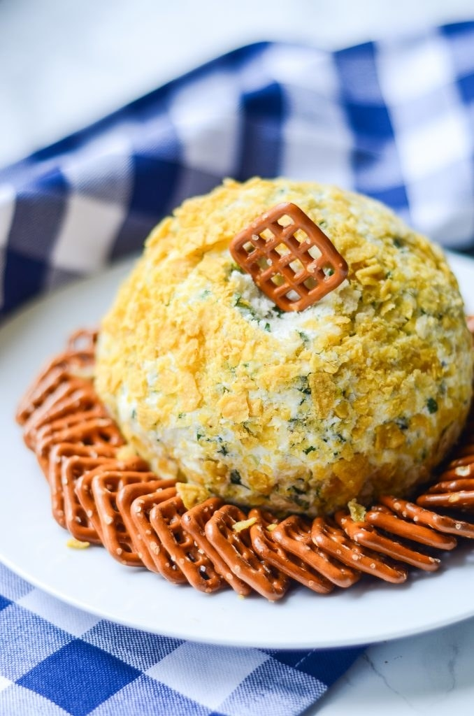 Who doesn't love a cheese ball? Serve this with pretzels, cut vegetables, or even some apple slices. Get the recipe.