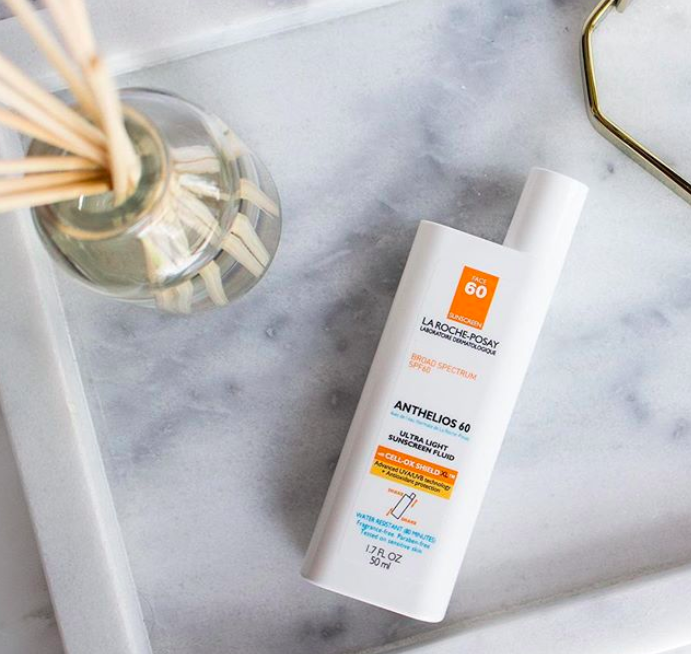 An Instagram picture of a bottle of La Roche-Posay Anthelios Face Sunscreen