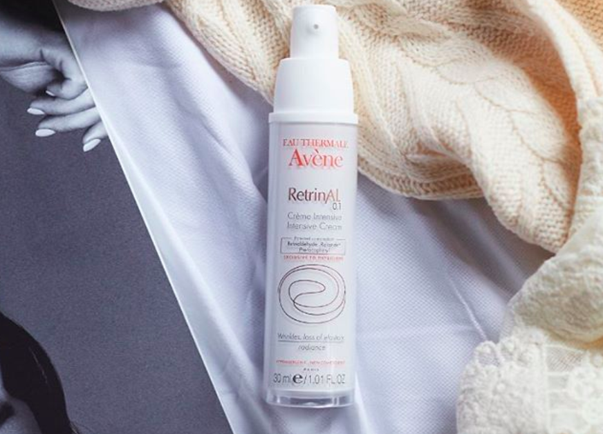 An Instagram of  a bottle of Eau Thermale Avène RetrinAL Cream