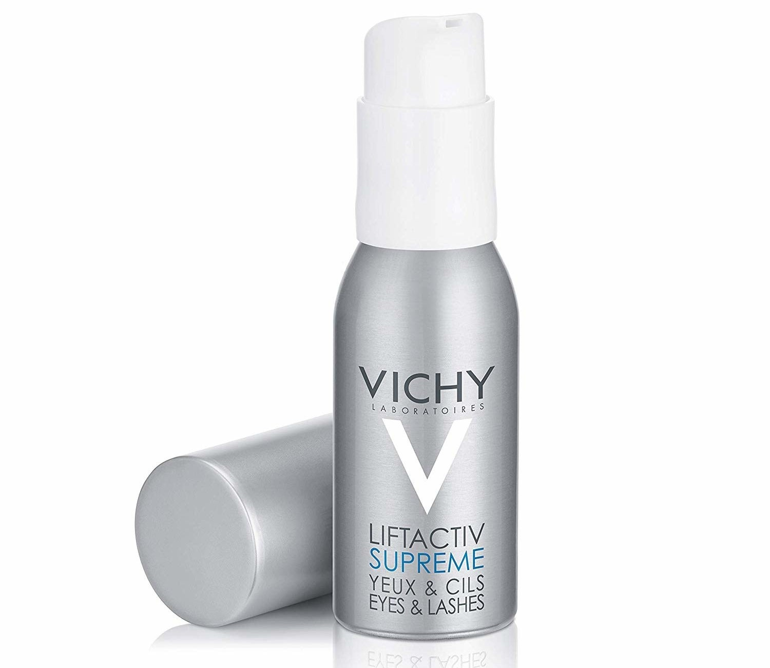 A bottle of Vichy LiftActiv Eyes and Lashes Serum