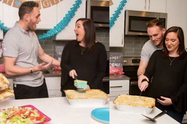 People Can T Even With The Announcement Of This Gender Reveal Lasagna