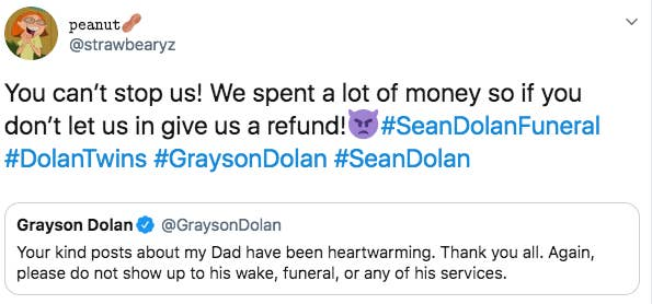 YouTubers The Dolan Twins Ask Fans Not To Attend Their Father's Funeral