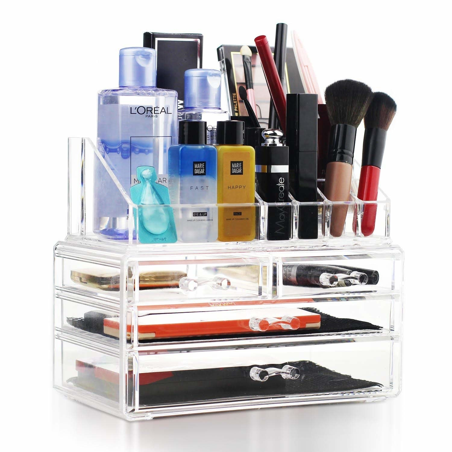 The clear organizer with four drawers