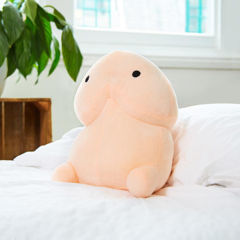 Penis pattern throw pillow by prepuce