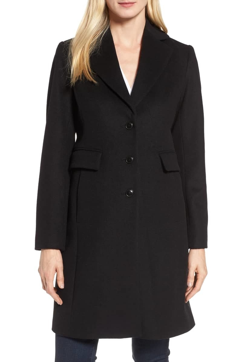 "Promising review: ""I love this coat! I needed a dressier coat to wear to work. And one that would be warm when needed, but not too hot if it wasn't that cold. This coat is wool-blend so it's perfect. The style is perfect, the fabric, and lining are both really good quality. So glad I purchased this!!"" —lieselynnGet it from Nordstrom for $149.90 (originally $300, available in sizes 4–16 and two colors)."