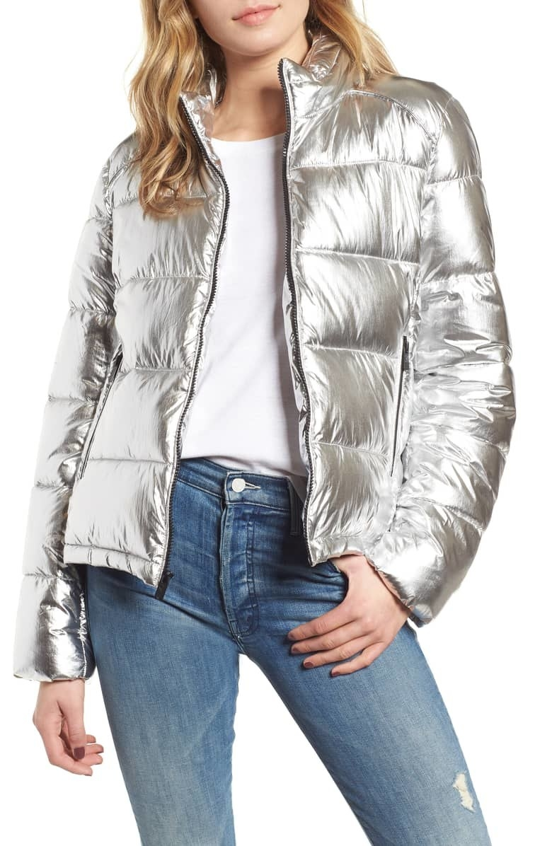 "Promising review: ""Super cool jacket! It is warm and very comfortable. Besides being super stylish, this one of the best puffer jackets I have ever worn or purchased."" —jjjmlGet it from Nordstrom for $109 (available in sizes M–XL and two colors)."