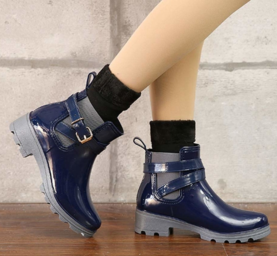 """They come with socks and a set of insoles as a bonus treat!Promising review: """"These little boots are cute, comfy, and fit perfectly! Some rain boots are so heavy, like wearing cement shoes, but not these! I love them!"""" —E. M. NatalinoGet them from Amazon for $22.99+ (available in sizes 5-10.5 and in three colors)."""