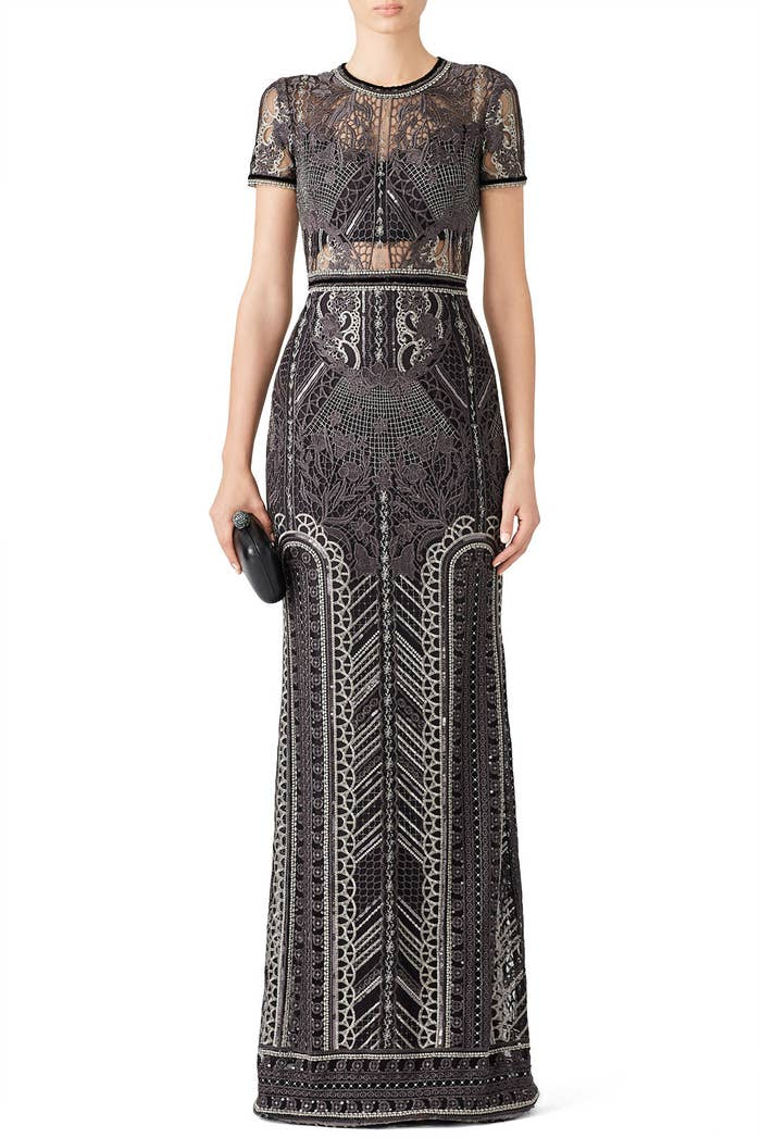 446805cc472d 34. A silver embroidered Marchesa you can rent for prom, and then strut  around the entire night having the fact in your head that uh, you're  wearing a ...