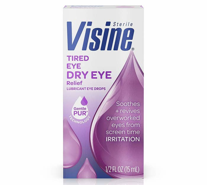 These drops will lubricate your eyes, relieving burning. It can protect your eyes for up to 10 hours.Get it from Amazon for $7.99.