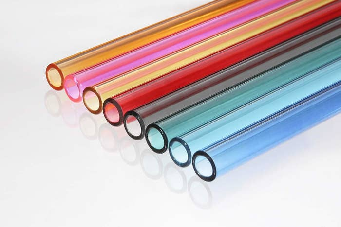 Rainbow glass straws