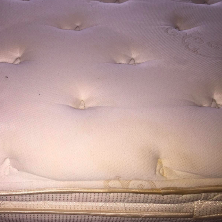 Reviewer's after picture of clean mattress