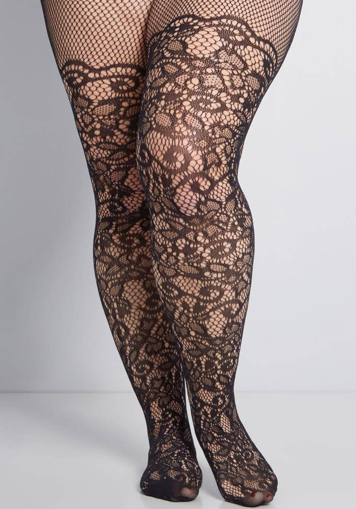 4f2f6f50f Modcloth s plus-sized Intricately Exquisite tights look like a lacey dream  come true