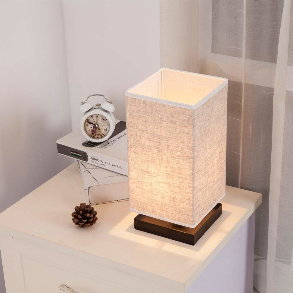 lamp styled on nightstand
