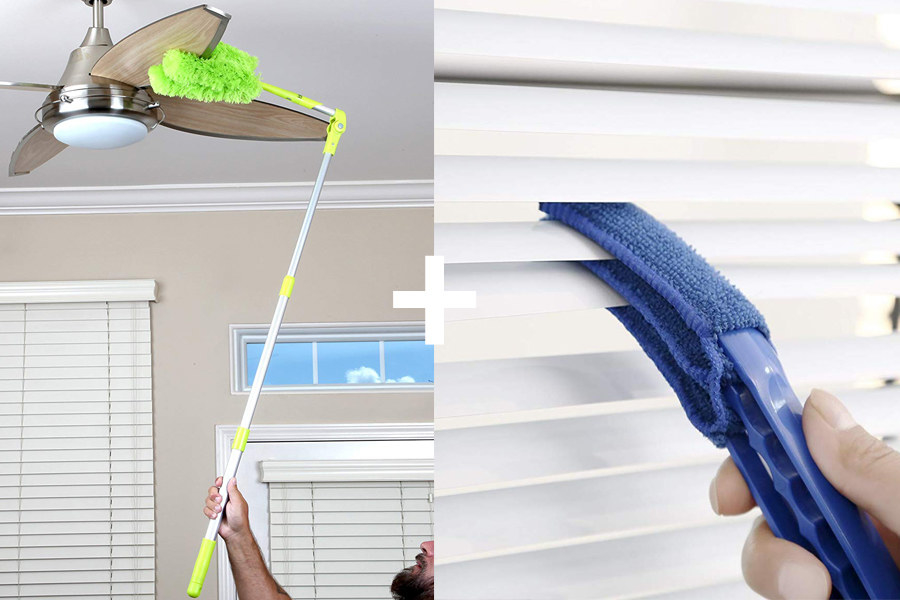 The fan and blind duster