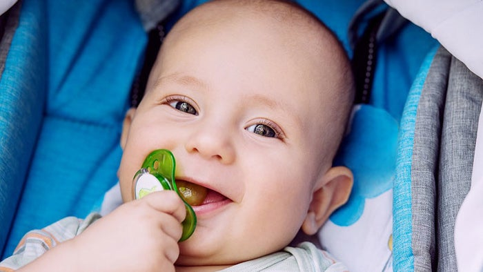 """One thing to consider, however, is how your child sucks their thumb. If it's relaxed and mostly just """"in"""" their mouth, well, that won't cause much harm whatsoever. But if they vigorously suck on their thumb, they may experience more difficulty with their teeth and mouth's growth.Ultimately, just know that up until your child is 4 years old, it's okay for them to pop a thumb in their mouth and lightly suck on it. Just be attentive to how much they do it and how hard they're sucking on their thumb, as those are the only things to worry about. And if thumb sucking continues after age 4, you can offer praise when they don't suck their thumb rather than scold them for doing so. You can reward them with other things and even ask your dentist to explain to them why they shouldn't.If it continues, placing something over the thumb or even having your dentist prescribe a device to put in the mouth to help with thumb sucking may be your last resort."""