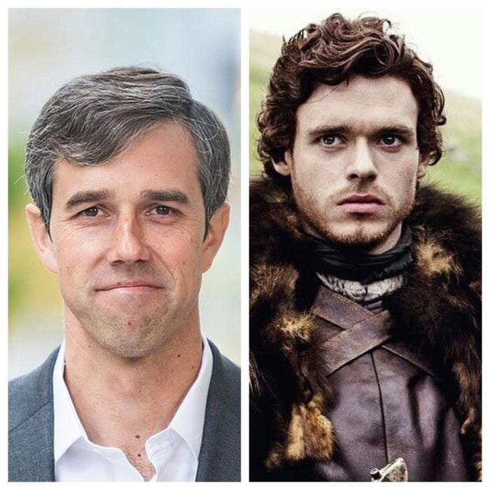 Young, ambitious, and new to the Great Game. Both are natural leaders who inspire their followers despite the odds being stacked against them. Like Robb, Beto was called to fight against an unlikeable foe.