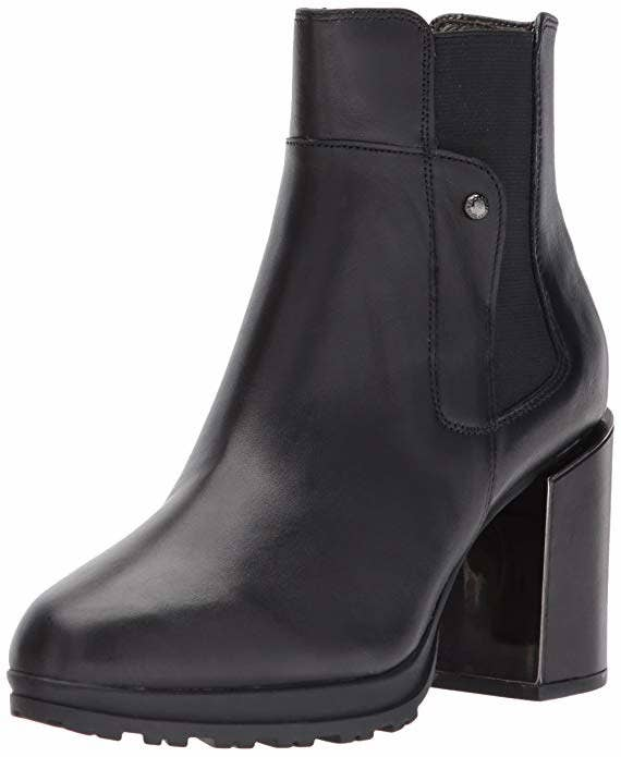 """Promising review: """"Very comfortable and stylish. Can wear with pants or dresses. Easy slide on/off with elastic side inserts. I have received several compliments on these. They look great paired with Hilary Radley's black Ponte pants, which tuck neatly inside the booties."""" —Amazon CustomerGet them from Amazon for $35+ (available in sizes 6–11 and two colors)."""