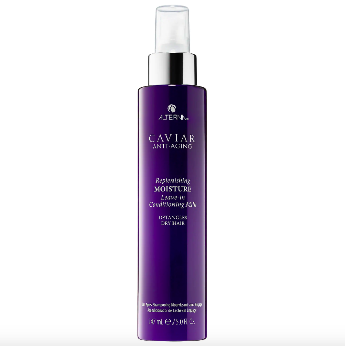 "TBH, all of Caviar's ""anti-aging"" line is pretty amazing when you use it all together. But if you have to pick and choose between one luxury hair product and another, this one will make a pretty big impact. Made without parabens, sulfates, and phthalates.Promising review: ""This leave-in conditioner smells amazing and leaves my hair super soft. I've just purchased my fourth bottle, that's how much I love it. It's especially great reviving my hair after going to the beach. This has become the only product I use to style my hair (and I used to use a bunch of different products on my hair). I never used to be able to grow my hair very long because of breakage, but now my hair is down to my lower back. I definitely recommend trying this."" —ellezeeGet it from Sephora for $32."