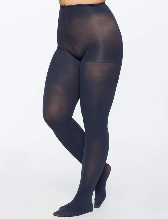 7bdfa6c821a23 10. Eloquii's opaque tights are lightweight, warm, and won't slip; so you  can layer these babes under skirts, dresses, and pants to your heart's  content.