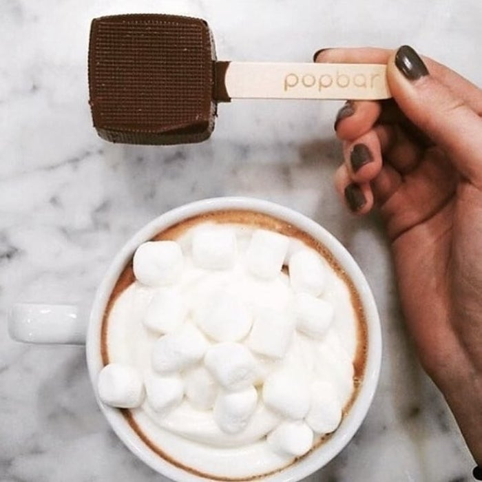 """Just heat up a mug of milk, pop one of these babies in, and stir until fully melted. Then simply enjoy the easiest, most gourmet hot chocolate ever!Get a pack of six from Amazon for $19.99. Available in two kinds of variety packs: milk chocolate, dark chocolate, and vanilla (two of each) ~or~ milk chocolate, dark chocolate, vanilla, caramel, peppermint, and mocha (one of each). Also available in smaller and larger size variety packs.Promising review: """"Great item. We enjoyed the hot chocolate. I gave them as gifts as well. It is real hot chocolate — not like the instant stuff. I didn't even know there was anything like this. Glad I stumbled upon them. They were a big hit."""" —Watch bobble"""