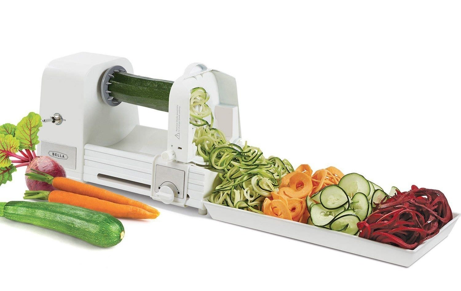 "All you have to do is insert your fave vegetable and turn the handle to create tasty veggie noodles. It's so easy even the laziest of cooks can enjoy it, and it's definitely a must-have item for any kitchen.Promising review: ""I was so excited to try out this spiralizer. I was trying to find ways to get my kids to eat more vegetables, and I think this is a great solution. It was much more compact than I anticipated, which is great for storage. It took me a few minutes to figure out how to use the blade part of it, but once I got it figured out, it was a breeze. I tried a potato first and was impressed with how easy and quick it was to make fettuccini-shaped potato strings...so FUN!! I can't wait to try so many new veggies and fruits. I highly recommend!!"" —Mreeves77Get it from Walmart for $22.13."
