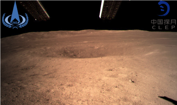 The far side of the moon as seen from the lander.