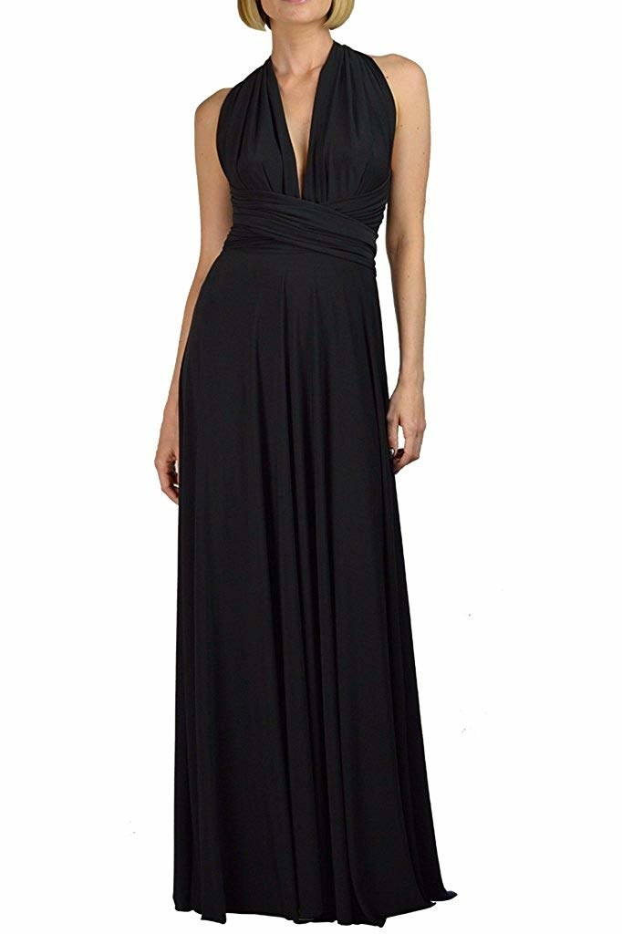 A maxi dress with convertible straps meaning — YES — this one dress will be  like owning one million dresses. This can be worn as a halter dress 8eb1075d1