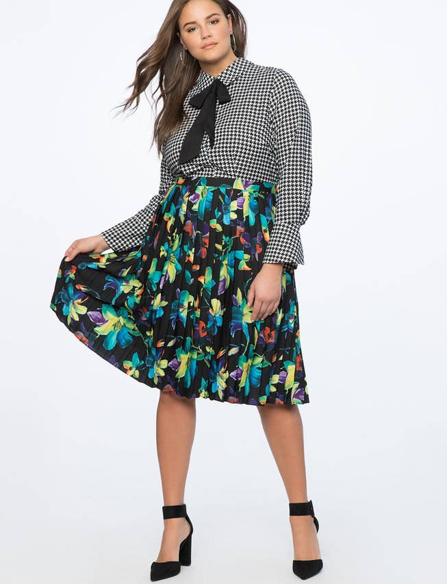 A printed shirtdress with a pleated skirt to trick people into thinking  you ve mastered the most challenging skill of all  the art of mixing prints. 6c5b6989f